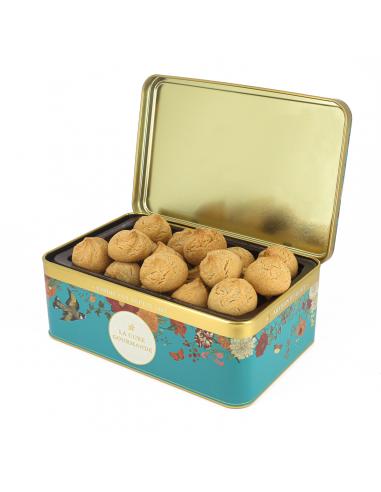 Boîte Fleurie Bleue Verte - Biscuits Fourrés Pomme Cannelle