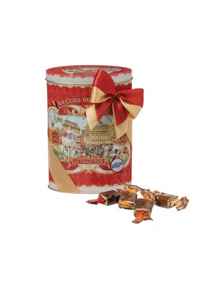 Boite ovale rouge - Assortiment Caramels
