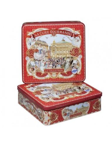 Boîte métal carrée - Collection Rouge