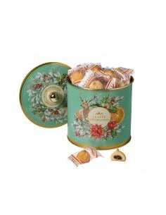 Seau en métal rempli de biscuits au chocolat